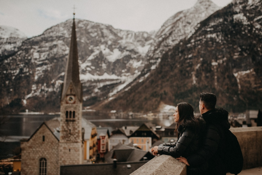 Hallstatt Engagement Session with couple from Hong Kong