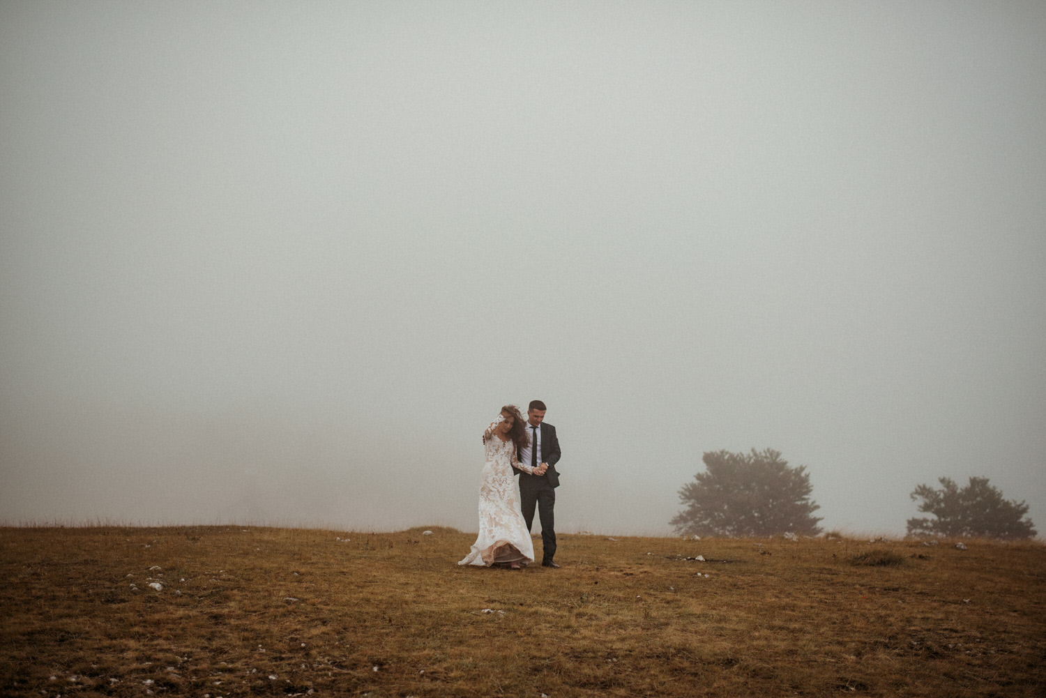Vlasic Mountain Wedding Photography with moody weather