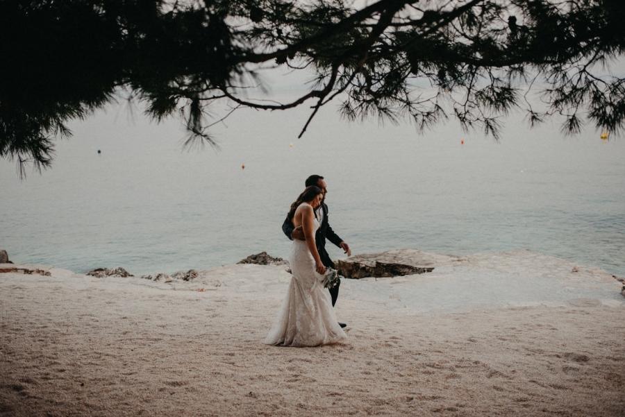 Laganini Beach Bar Wedding Photographer at Island Ciovo