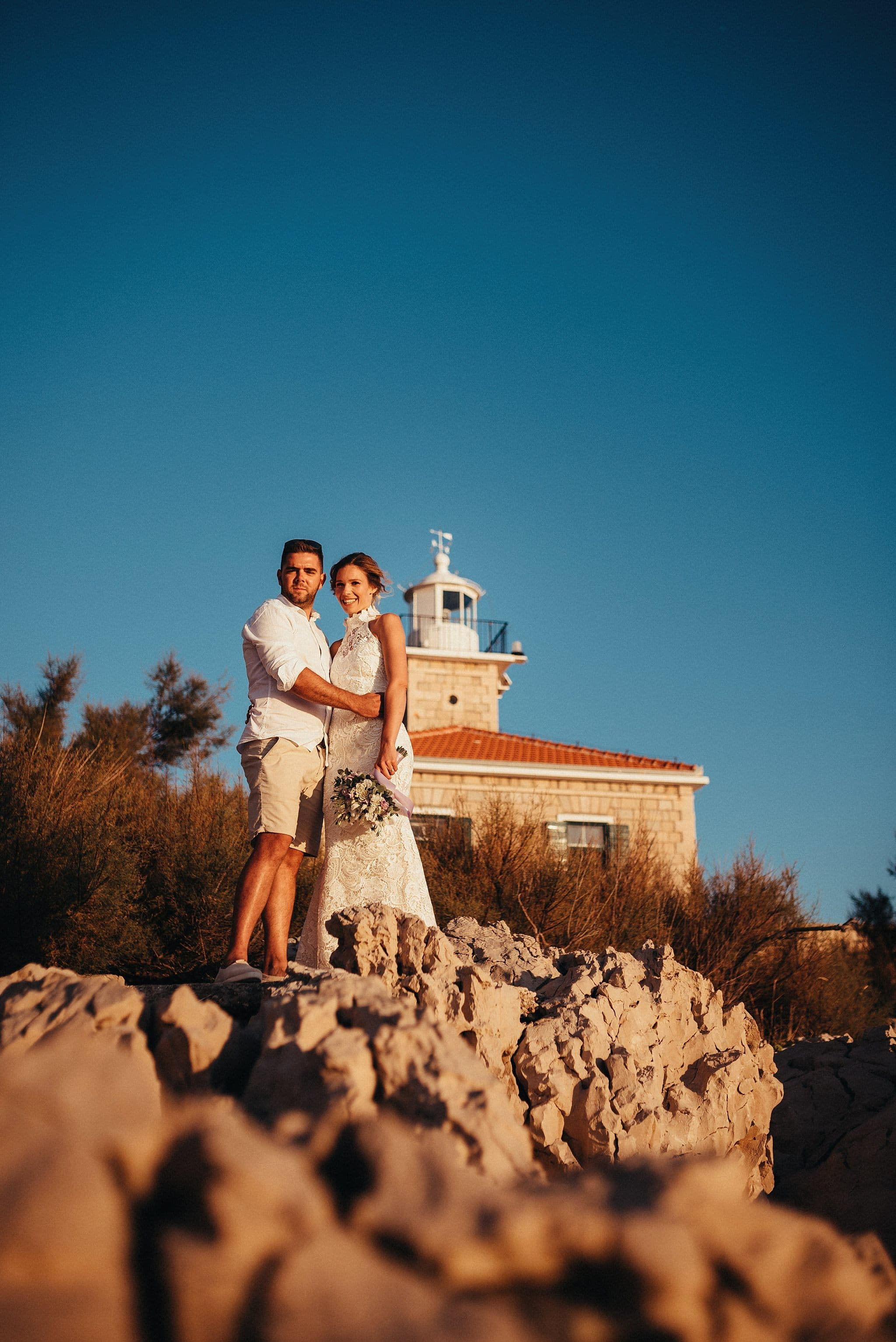 Wedding photography in Makarska at St. Peter lighthouse