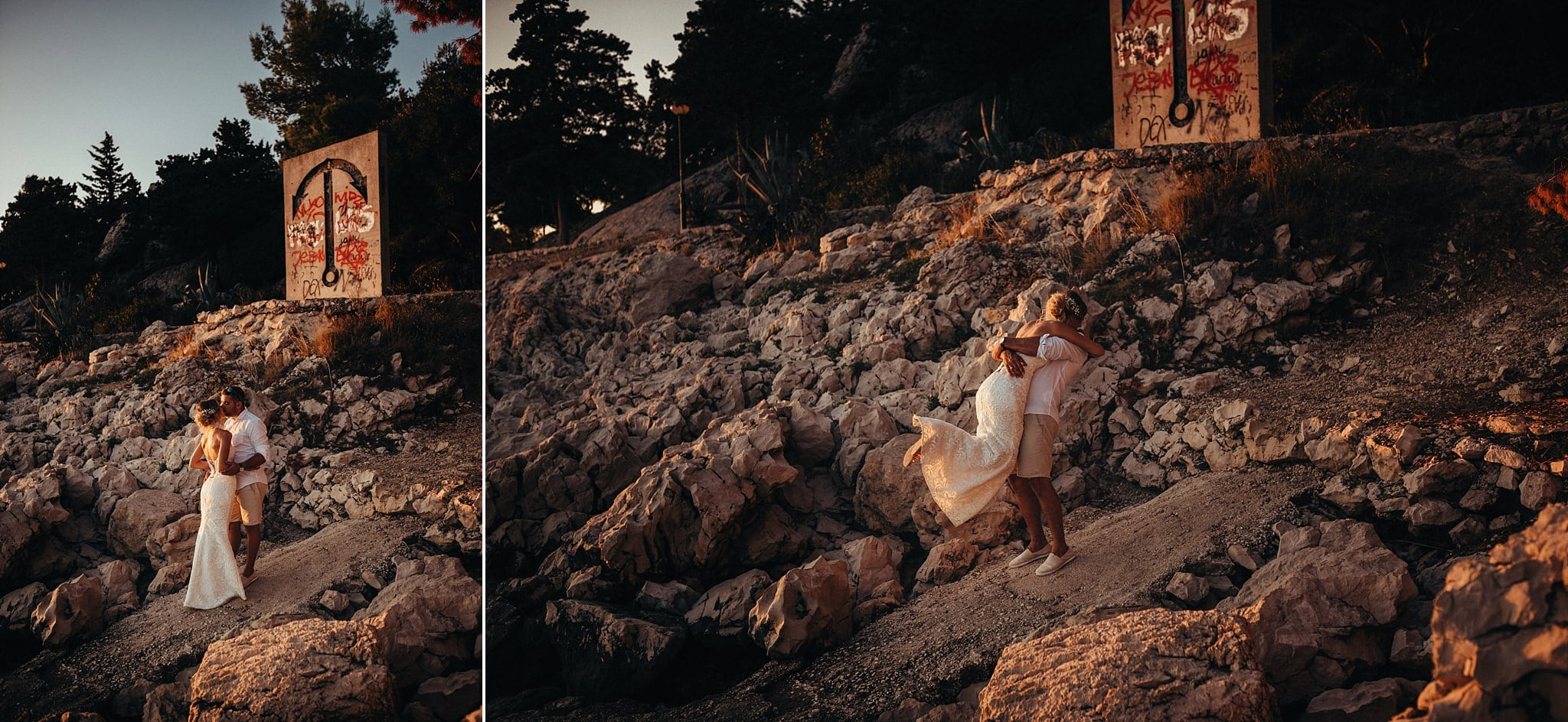 Destination wedding photographer Makarska