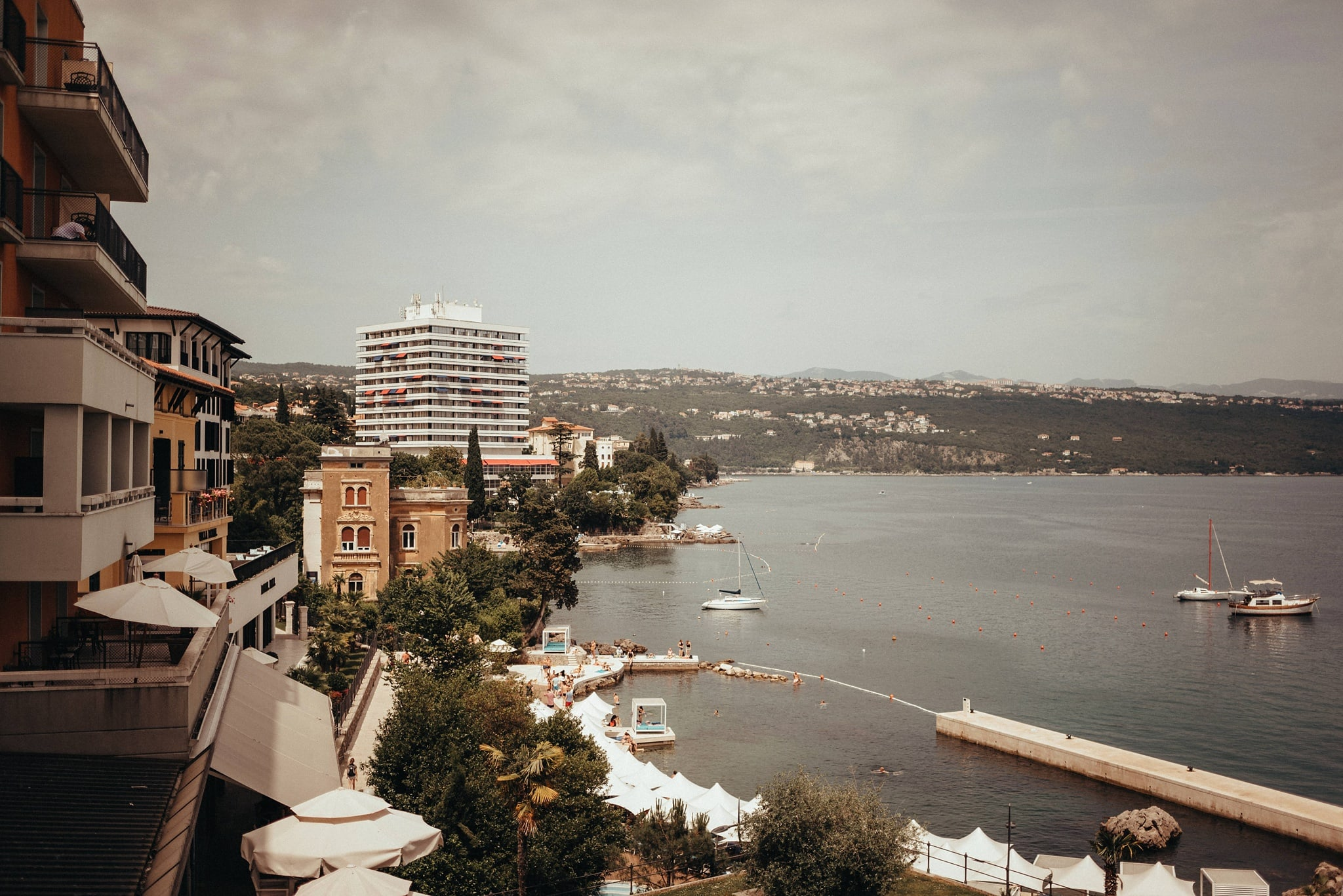 Panorama view of Royal Hotel Opatija