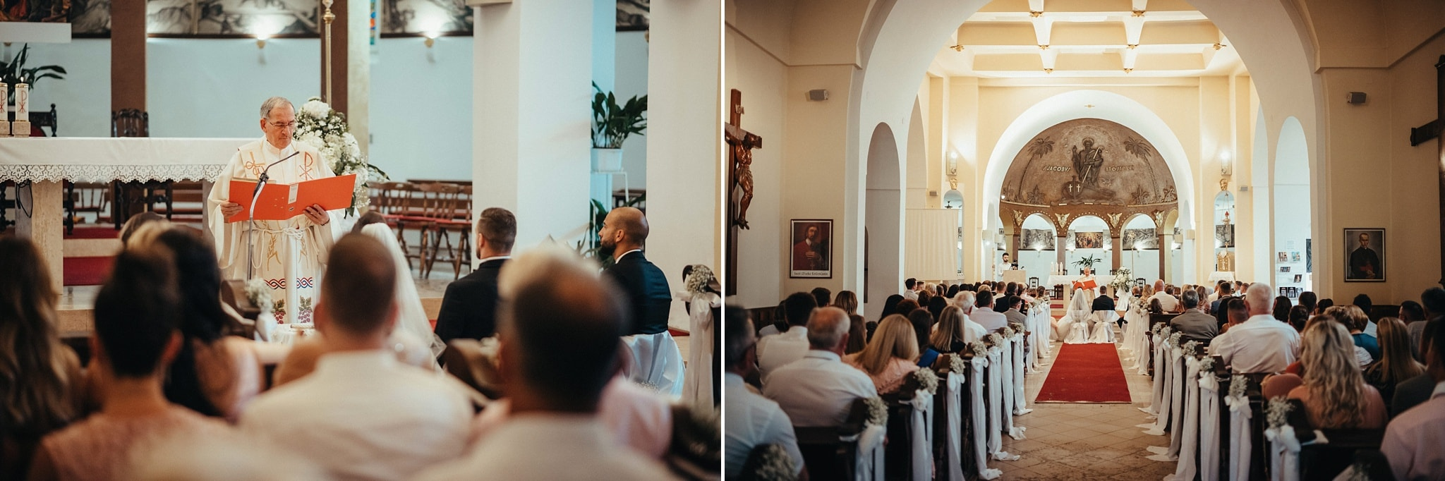 Ceremony at St. Jacob Church Opatija