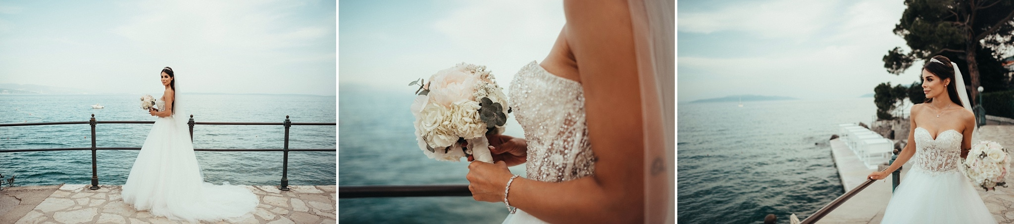 Beautiful bride in Opatija