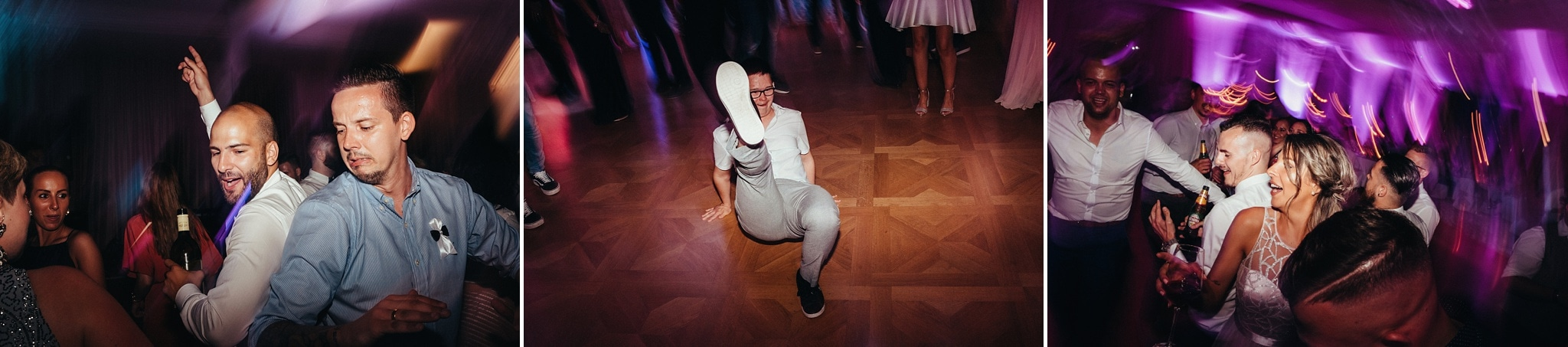 Moments of happines at wedding dancefloor